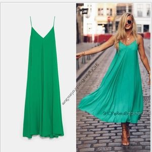 ZARA JOIN LIFE GREEN TIED MAXI DRESS
